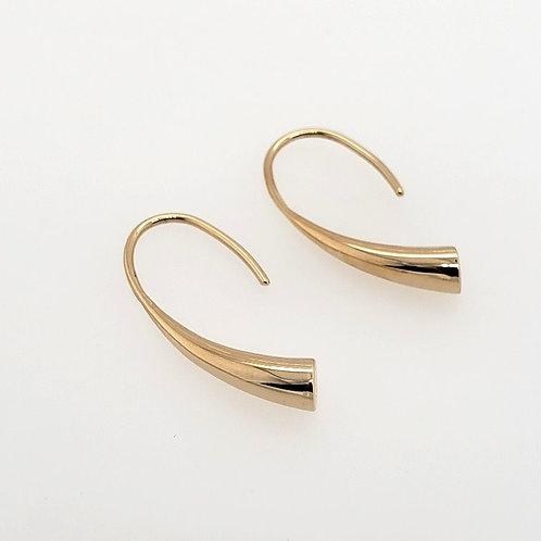 """""""Horn"""" Earrings - 14kt Gold"""
