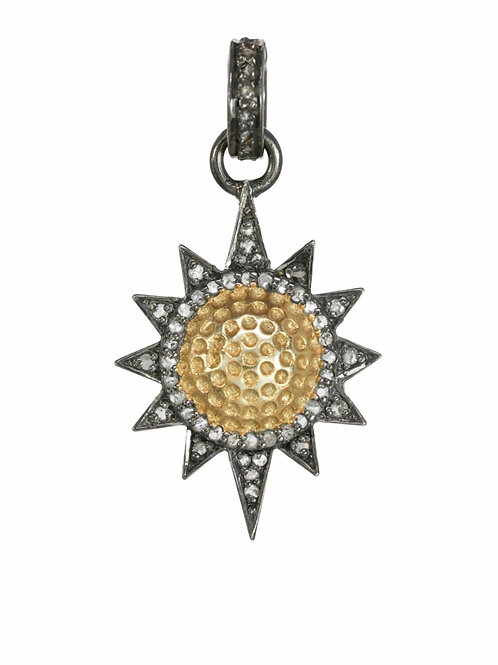 18kt Gold & Diamond Sun Charm - Margo Morrison