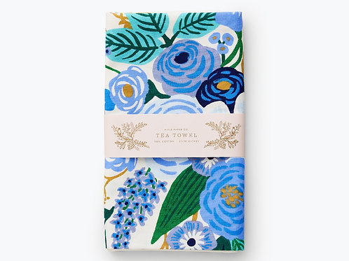 "Tea Towel - ""Garden Party Blue"" - Rifle Paper Company"