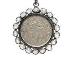 Vintage Coin & Raw Diamond Charm - Margo Morrison