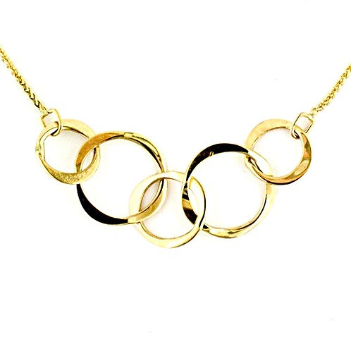 Tom Kruskal - 14kt Gold Varied Circle Necklace