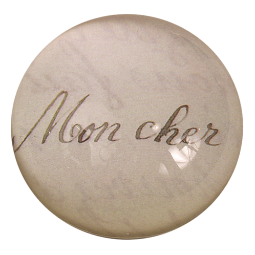 "John Derian - ""Mon Cher"" Dome Paperweight"