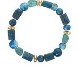 Apatite & Gold Bead Bracelet - Margo Morrison