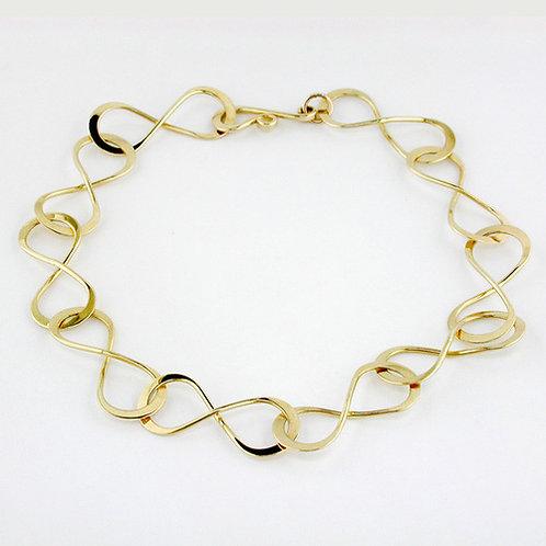 """""""Infinity"""" Link Bracelet - 14kt Gold"""