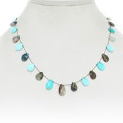 Blue Opal Teardrop Necklace - Margo Morrison