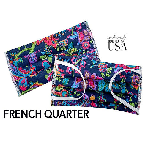 "Cotton Print Face Mask - ""French Quarter"""
