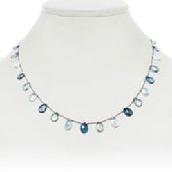 Aquamarine, London Blue & Green Topaz Necklace - Margo Morrison
