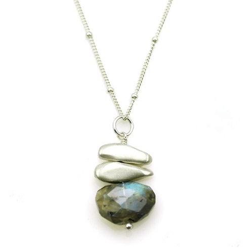 "Philippa Roberts - Labradorite & Sterling Silver ""Pebble"" Pendant"