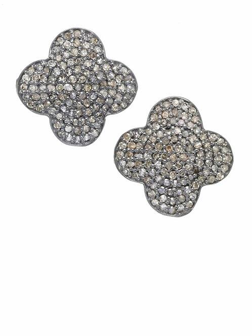 Pave Diamond Clover Earrings - Margo Morrison
