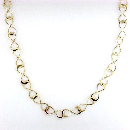 "Tom Kruskal -""Infinity"" Link Chain Necklace - 14kt Gold"