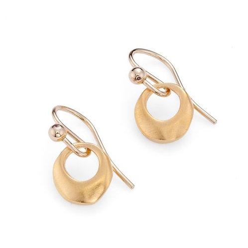 Vermeil Circle Earrings - Philippa Roberts