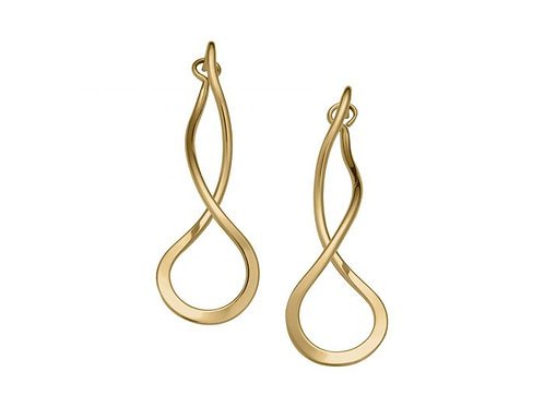 """Endless Braid"" Earrings - 14kt Gold Overlay - Ed Levin Studio"