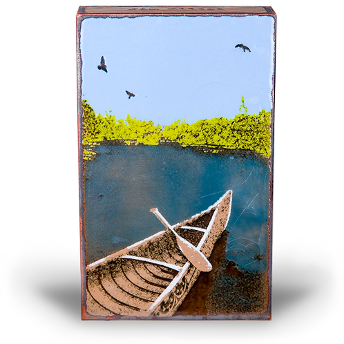 """In the Moment"" - Spirit Tile by Houston Llew"