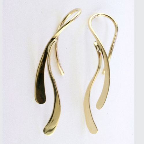 """Dancing Water"" Earrings - 14kt Gold"