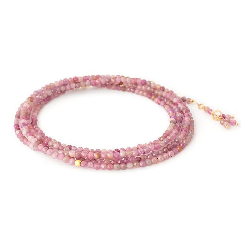 Multi Pink Ruby & 18kt Gold Wrap