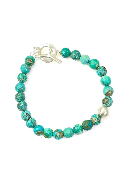 Philippa Roberts - Sterling Silver & Turquoise Bracelet