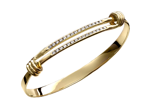 "Diamond ""Signature"" Bracelet - 14kt Gold - Ed Levin Studio"