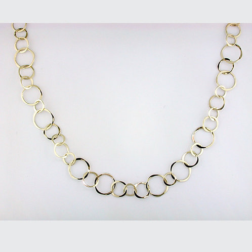 Varied Circle Necklace - 14kt Gold