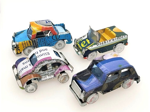 Mini Autos - Recycled Tin Cans