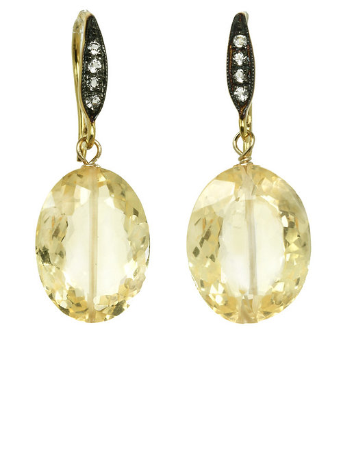 Citrine & White Sapphire Earrings