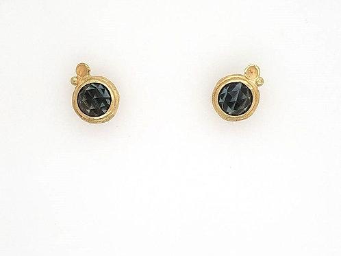 !8kt Gold Vermeil & Smoky Topaz Post Earrings - Sarah Richardson