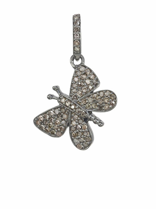 Pave Diamond Butterfly Charm - Margo Morrison