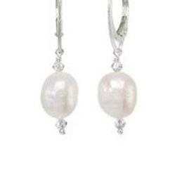 White Freshwater Pearl Earrings - Margo Morrison