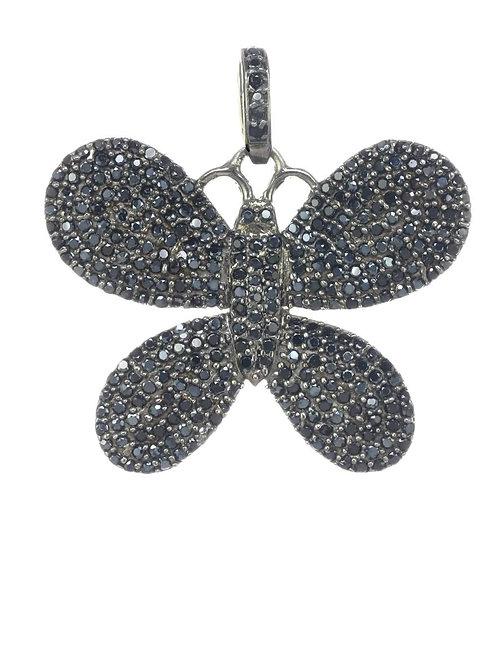 Black Spinel Butterfly Charm - Margo Morrison