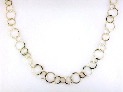 Tom Kruskal - Varied Circle Chain Necklace - 14kt Gold