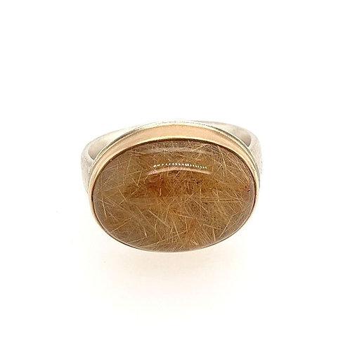 Gold Rutilated Quartz Ring - Jamie Joseph