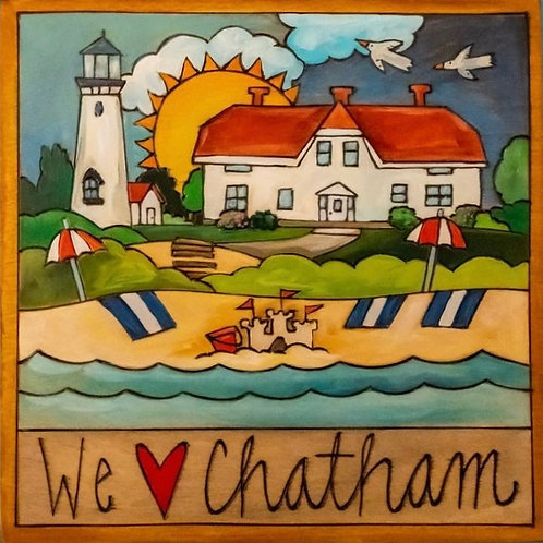 """Chatham"" Wood Plaque by Sincerely Sticks"