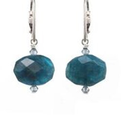 Apatite & Sterling Silver Earrings