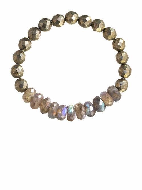 Labradorite & Pyrite Bracelet - Margo Morrison