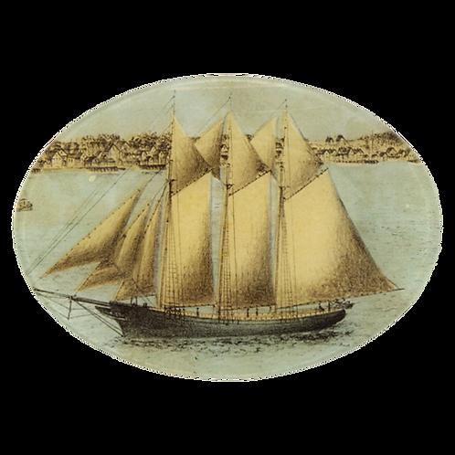 """John Derian - Ship - 7"""" x 10"""" Oval"""
