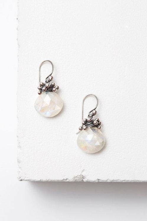 """Swarm"" Earrings - Moonstone & Sterling Silver"