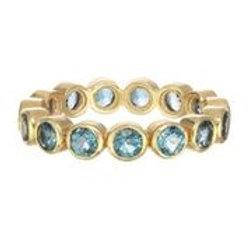 18kt Gold & London Blue Topaz Ring - Margo Morrison