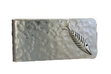 Fish Design Money Clip - Sterling Silver