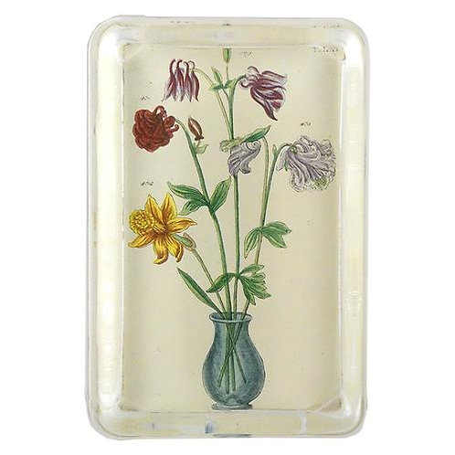 John Derian - Floral Rectangle Paperweight