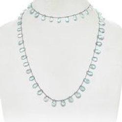 Aquamarine Teardrop Necklace - Margo Morrison