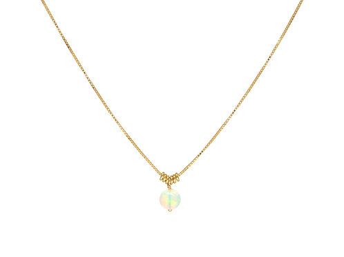 "Anne Sportun -  ""Luna"" 18kt Gold & Opal Necklace"