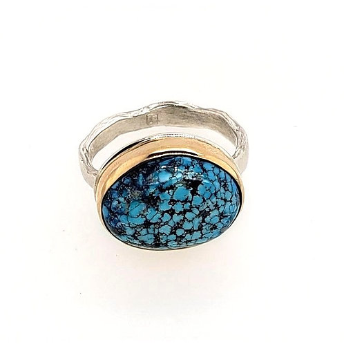 Jamie Joseph - Nevada Mine Turquoise Ring
