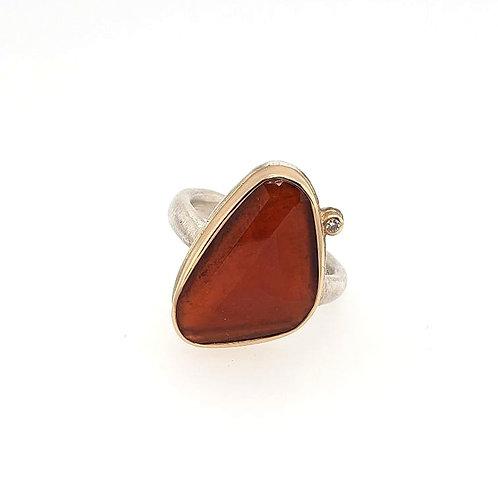 Hessonite Garnet & Diamond Ring - Jamie Joseph