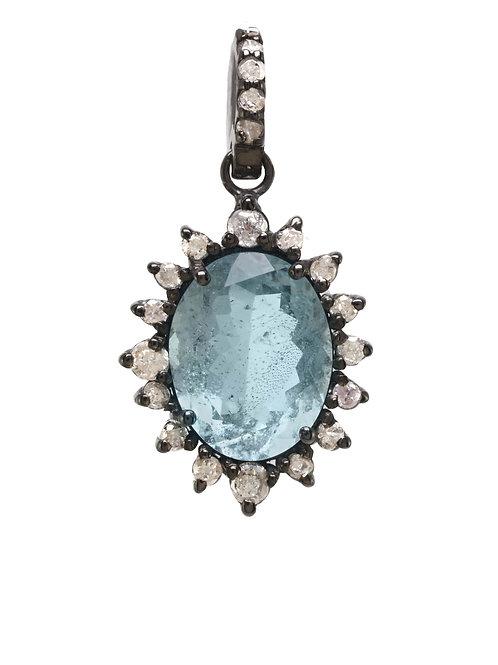 Margo Morrison - Aquamarine & Diamond Charm