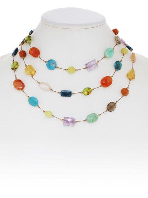 Bright Multi-color Gemstone Necklace - Margo Morrison