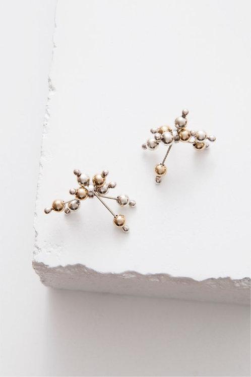 """""""Jax"""" Stud Earrings - Sterling Silver & 14kt Gold Fill"""