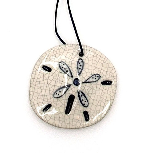 Sand Dollar Handcrafted Clay Ornament