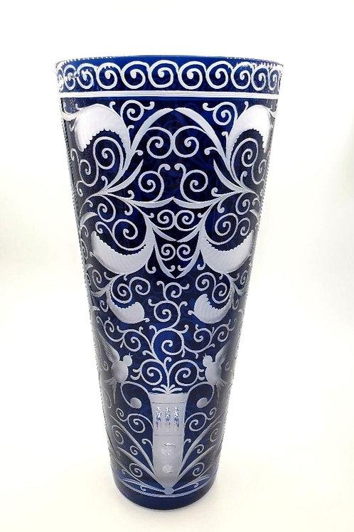 """Artel - Hand Engraved & Hand Blown Crystal Vase - """"Baroko"""""""