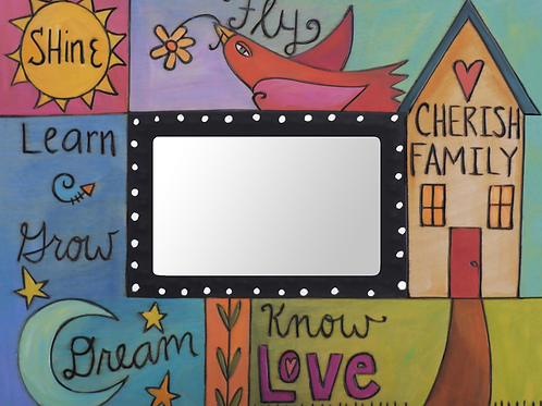 """Cherish Family"" Picture Frame by Sincerely, Sticks"