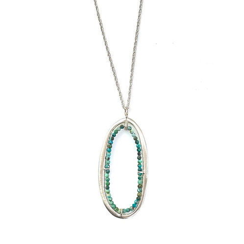 Philippa Roberts - Turquoise & Sterling Silver Oval Necklace