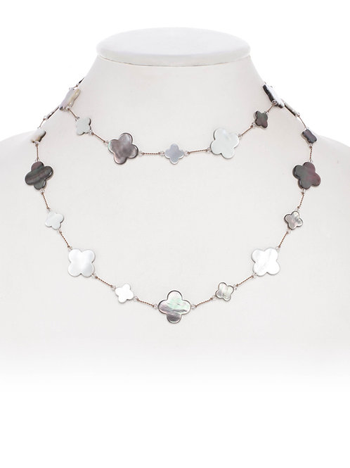 Mother of Pearl Clover Shape Necklace